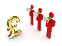 Dollar sign and 3d small people. Royalty Free Stock Photo