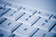 Dollar sign. The dollar sign on a keyboard. Relates to internet banking or e-commerce royalty free stock image