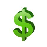 Dollar sign royalty free illustration