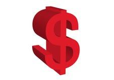 Dollar symbol. An illustration of a red dollar symbol Royalty Free Stock Photos