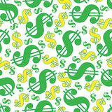 Dollar sign abstract seamless background Stock Photography