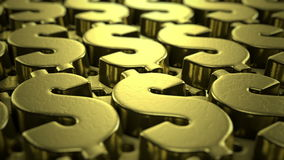 Dollar sign animation stock video footage