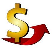 Dollar Sign with arrow. Illustration of a Dollar Sign with arrow Stock Photos