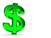 Dollar sign background Stock Photography