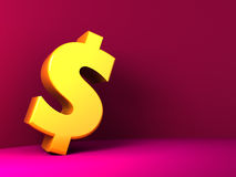Dollar sign background Royalty Free Stock Photography