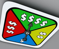 Dollar Sign Board Game Spinner Win Riches Lottery Take Chance Stock Photo