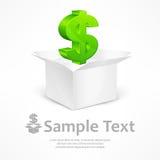 Dollar sign in box Stock Photo