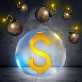 Dollar sign in bubble Stock Photography