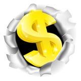 Dollar Sign Bursting Background Royalty Free Stock Photography