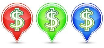 Free Dollar Sign Button Stock Photo - 20879910
