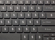 Dollar sign buttons Stock Photography