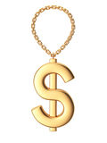 Dollar sign on chain Stock Photography