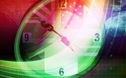 Dollar sign and clock Stock Images