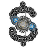 Dollar sign cogs wheel power of money concept.  Royalty Free Stock Photo