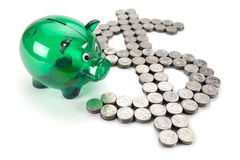 Dollar sign from the coins Stock Photography