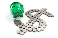 Dollar sign from the coins Stock Image