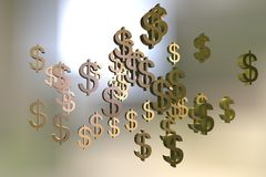 Dollar sign on colorful background Royalty Free Stock Images