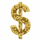 Dollar sign composed of golden Stock Photo