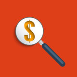 Dollar sign. Concept for business and e-commerce. Flat design element Stock Illustration
