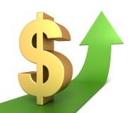 Dollar sign concept  3d illustration. Dollar sign 3d illustration  on white background Royalty Free Stock Image