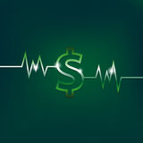 Dollar sign concept with pulsation Royalty Free Stock Photography