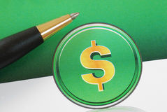Dollar sign concepts of investing and profits Royalty Free Stock Photography