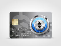 Dollar sign - credit card Stock Photography