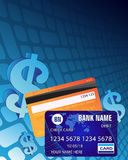 Dollar sign and credit cards Royalty Free Stock Photos