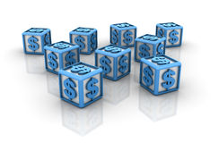 Dollar sign Cubes Stock Photo