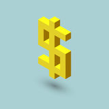 Dollar sign cubes form, isometric US currency icon, vector illustration.  Stock Photography