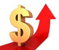 Dollar sign  3d illustration. Dollar sign 3d illustration  on white background Stock Photography