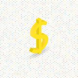Dollar sign on a digital background. Stock Photo