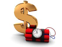 Dollar sign and dynamite Stock Images