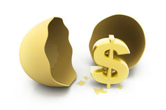Dollar sign with egg Stock Image