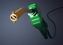 Dollar sign fuel nozzle Royalty Free Stock Images