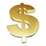 Dollar sign gold Royalty Free Stock Photo