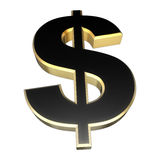 Dollar sign gold Royalty Free Stock Photography