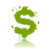 Dollar sign green Stock Photos