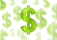 Dollar sign, green color Stock Image
