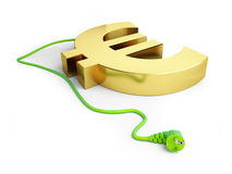 Dollar sign green power plug Stock Image