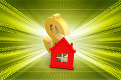 Dollar sign with home Stock Image
