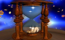 Dollar sign in hourglass Stock Photo
