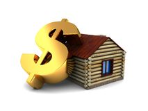 Dollar sign and house Royalty Free Stock Photo