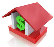 Dollar sign in the house. At registration information related to Real Estate Royalty Free Stock Photo