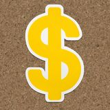 Dollar sign $ icon on isolated royalty free stock image