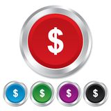 Dollar sign icon. USD currency symbol. Stock Images
