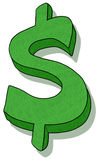 Dollar sign illustration Royalty Free Stock Photo