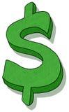 Dollar sign illustration. Green dollar sign illustration; Dollar symbol cartoon Royalty Free Stock Photo
