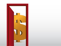 Dollar sign inside a room illustration design Royalty Free Stock Photos