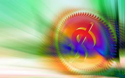 Dollar sign inside a wheel Stock Images